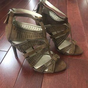 NWOT Zara Leather Laser Cut Heels